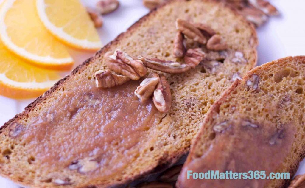 easy crock pot pear butter sweet potato pecan bread