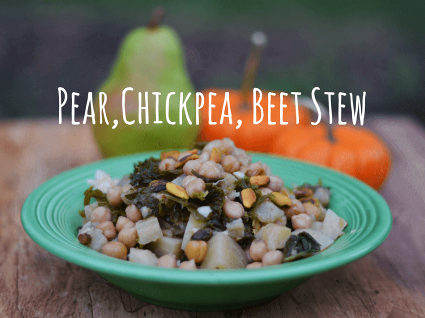 Pear, Chickpea, Beet Stew