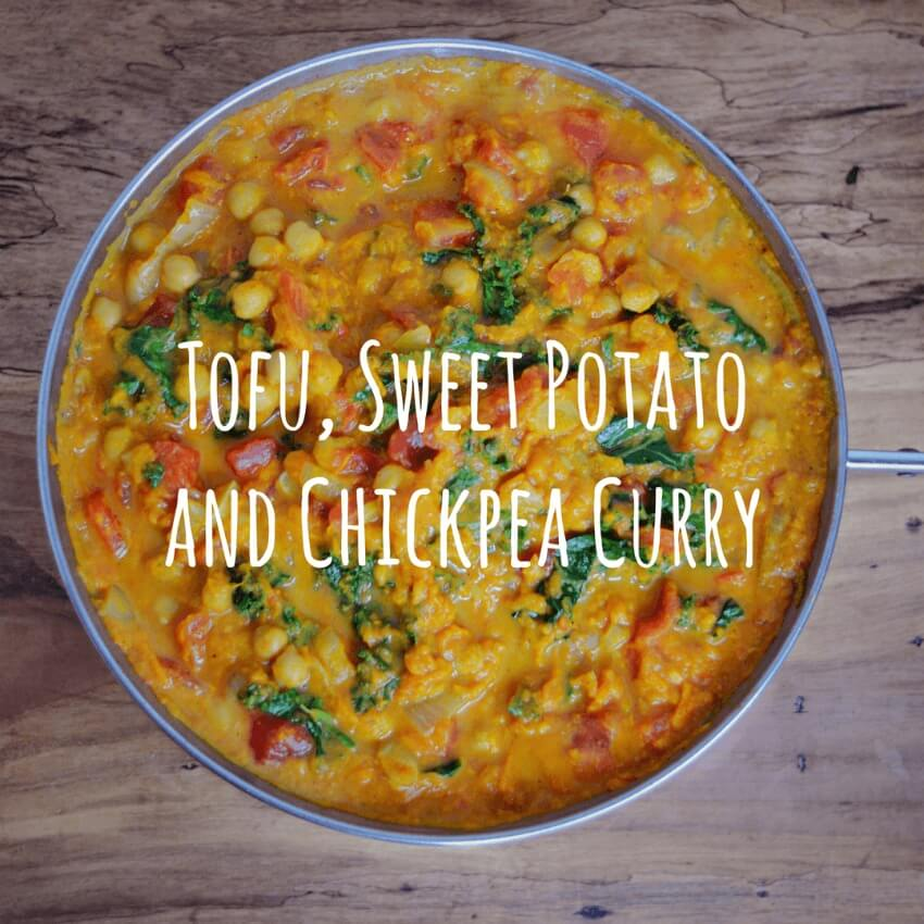 Tofu, Sweet Potato And Chickpea Curry
